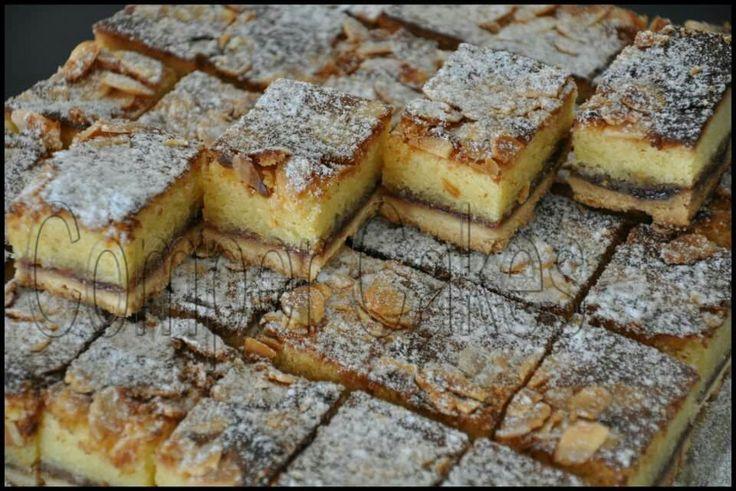 Bakewell tarts slices