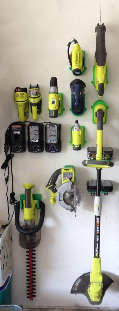 Ryobi 18v Tool Holders By Barty3d Tool Storage Diy