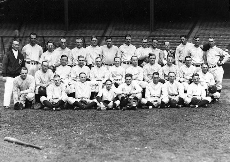 1927 new york yankees team photo with babe ruth