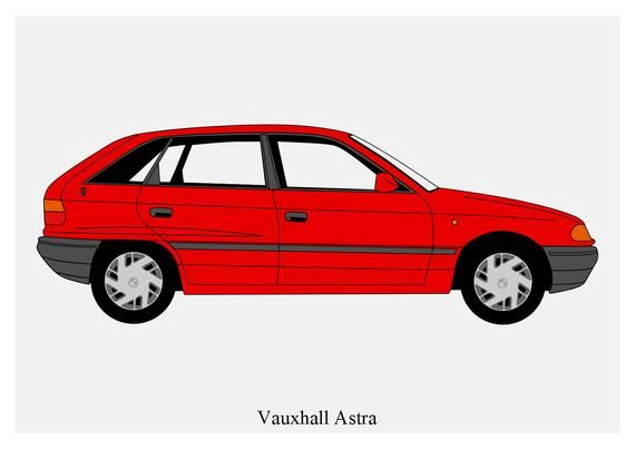 Poster Vauxhall Astra Mk3 Red Vector Art Etsy Vauxhall Vector Art Vauxhall Astra