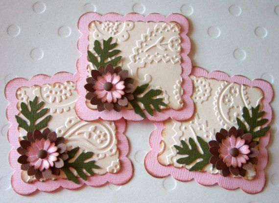 Paper Flowers Vintage Pink Embellishments 3 by sarasscrappin
