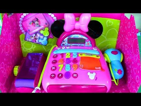 Disney Junior Mickey Mouse Clubhouse Minnie Mouse Bow-tique Electronic Cash Register - YouTube