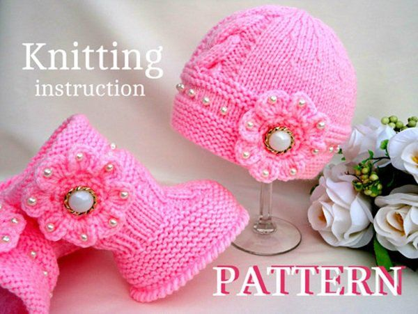 DIY Knitting Adorable Hat and Boots Sets