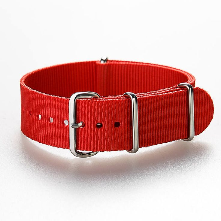 "NATO Strap ""RED"" Classic Bond Nylon Watch Strap  20 mm, Nato strap, Nato Band,  Nylon strap by ClueAuthenticBrand on Etsy https://www.etsy.com/listing/556771975/nato-strap-red-classic-bond-nylon-watch"