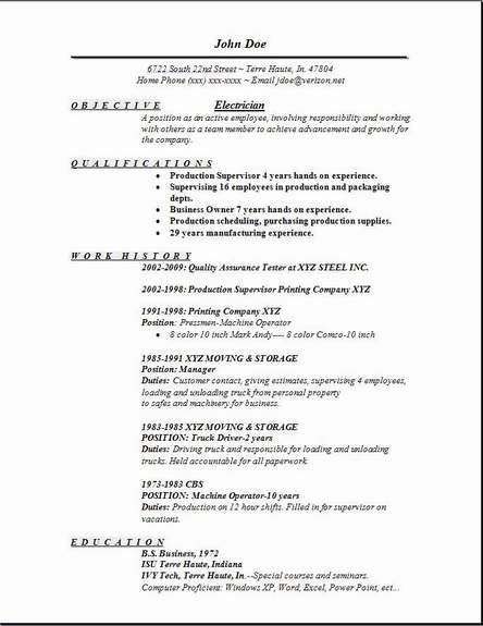 7 best scannable resumes images on Pinterest Career, Desk and - master electrician resume