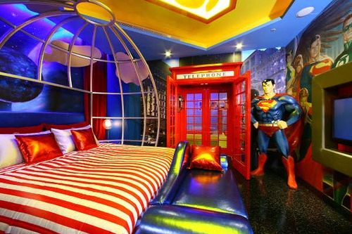 Amazing-Superman-Ideas-for-Kids-Bedroom-Decorating Love No. 7 but good luck getting your kid out of No. 8 when he's in trouble