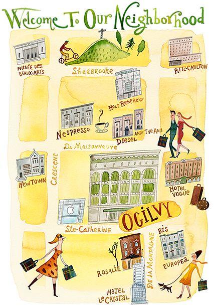 janice nadeau -: Illustrations Art, Watercolor Map, Illustrations Maps, Art Journals, Hands Letters, Janic Nadeau, Janice Nadeau, Hand Lettering, Awesome Illustrations