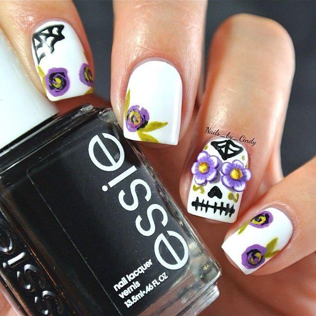 sugar skull by nails_by_cindy #nail #nails #nailart