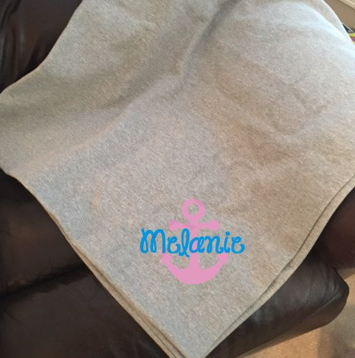 Sweatshirt Blanket, Anchor Decor, Anchor Gifts, Anchor Home Decor, Anchor Themed Gifts, Cotton Blanket, Blankets and Throws, Stadium Blanket by PiperGraceGifts on Etsy