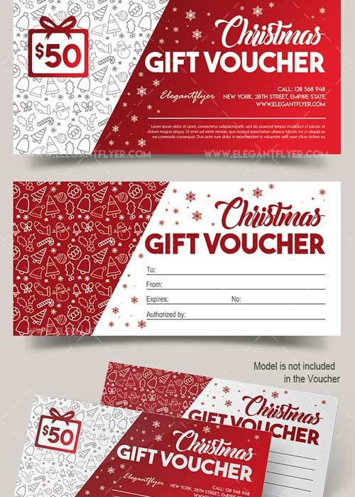 Download Christmas V02 2017 Gift Certificate PSD Template Free