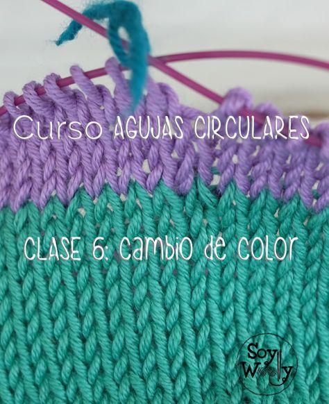 El TRUCO para cambiar de color sin escalones ni saltos #tejiendo en círculo…