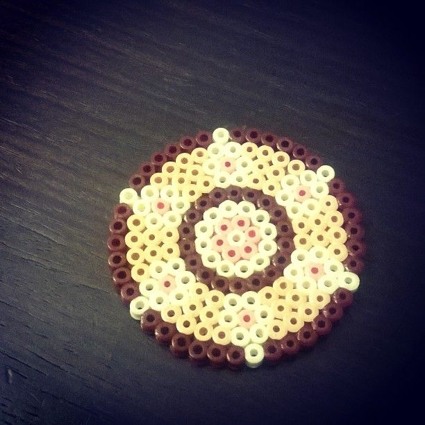 #handmade #coaster #diy #hama_beads #creative