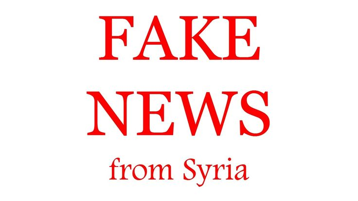 How to make a fake news from Syria. As media mislead of you.