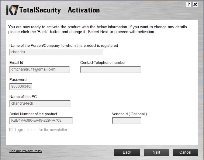 K7 Total Security Activation Key, Crack Full Free Download