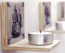 DIY Tealight holder #dutch #light - Waxinelichthouder met Oudhollands tintje #lamp #licht Kijk op www.101woonideeen.nl