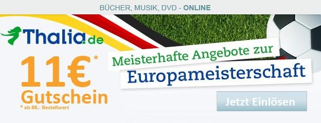 11 € - Gutschein Thalia.de ab 88 Euro Bestellwert einlösbar + nur begrenzt auf 1000 Stück - Hier bei http://www.gutscheine4free.de kostenlos erhalten!