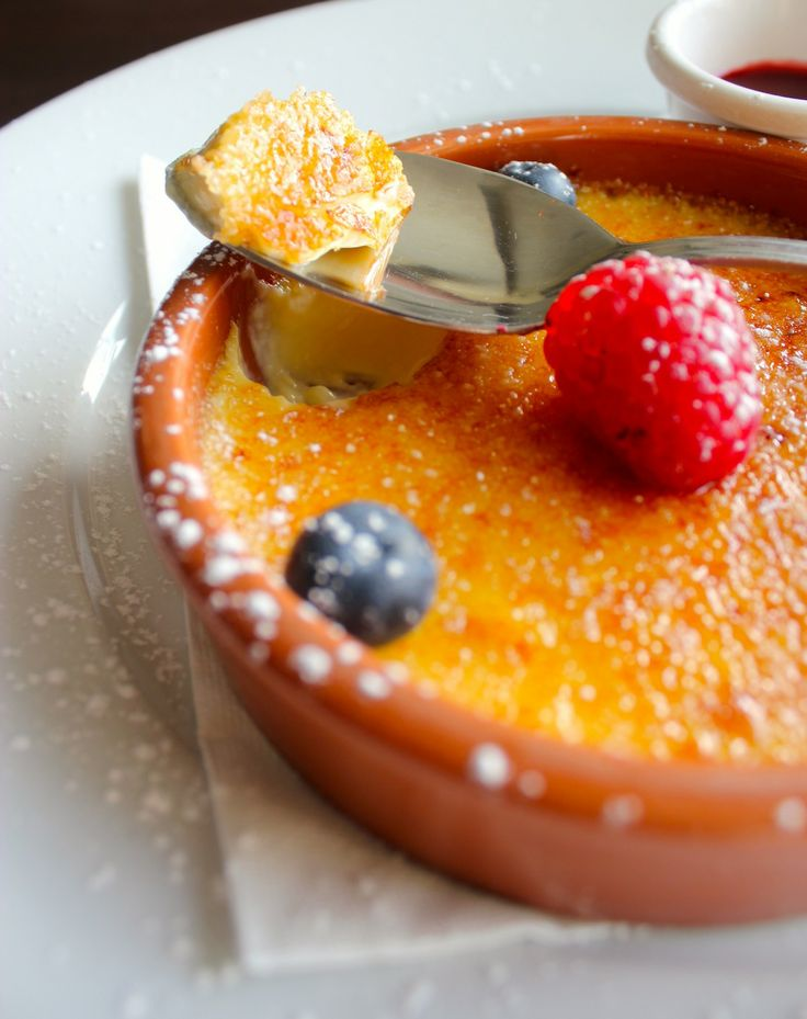 """Catalan Cream """"Crema Catalana"""" is a traditional dessert here in Catalonia. is a simple custard cream, covered with a thin layer of caramelized sugar traditional 