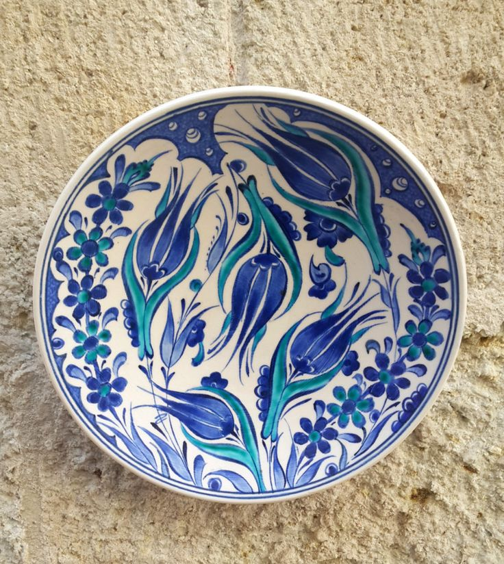 Hand Made Turkish Ceramic Plate / Wall Decor by Turqu50 on Etsy