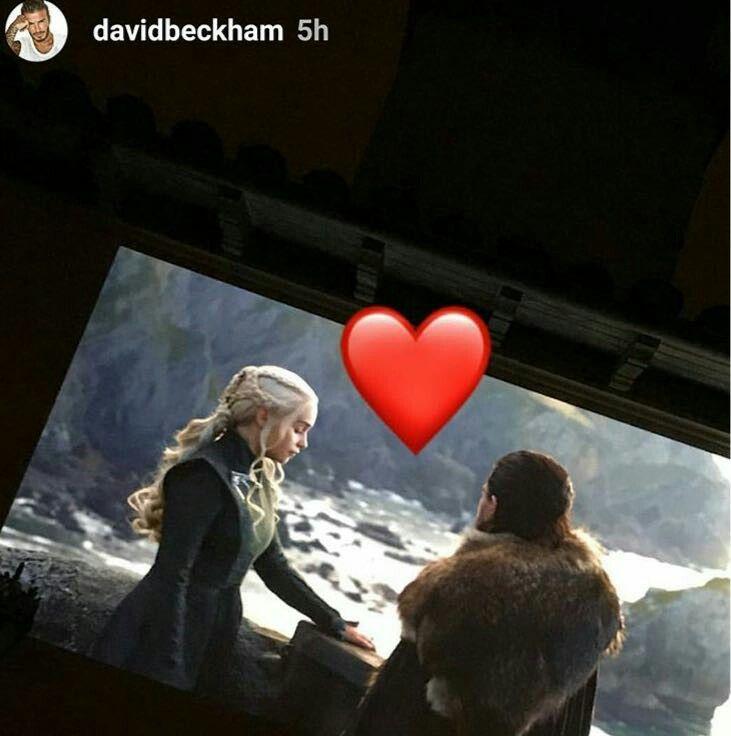 Game of Thrones, David Beckham ships Jonaeris. Jon Snow, Daenerys Targaryen