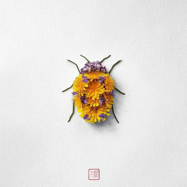 Fascinating Insects Flower Sculptures by Raku Inoue – Fubiz Media