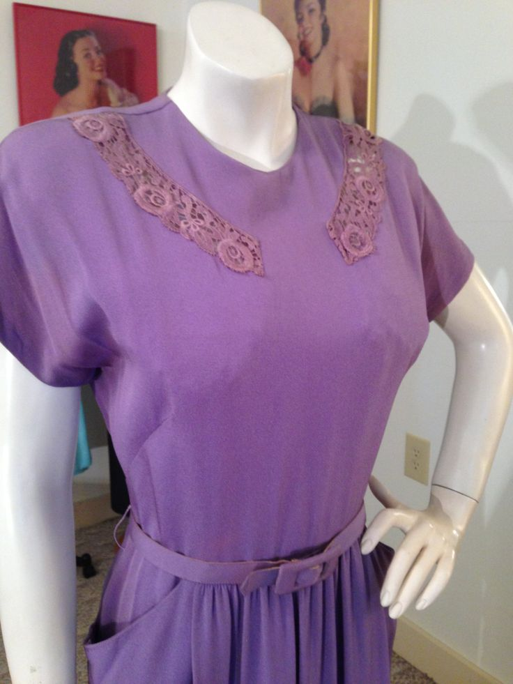 VTG.40's Figure Hugging Crepe Dress w/See Thru Lace Insets / Hollywood Starlet by OldohioVintage on Etsy
