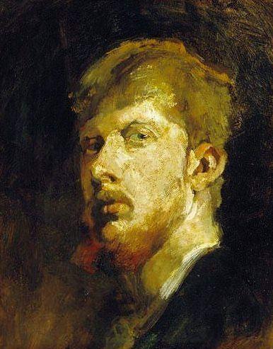 George Hendrik Breitner - Self portrait by George Hendrik Breitner
