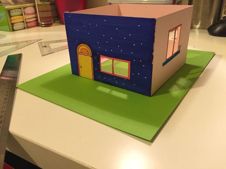 Model Ev kendin tasarla, kendin boya, kendin yap :) #babalarvekizlari