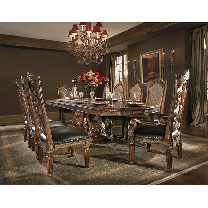 San Sebastian 9 Piece Dining Set Aico, Aico Dining Room Chairs