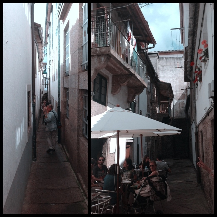Between streets.  Santiago is full of narrow streets with hidden stories. You always find something totally unexpected around the corner.
