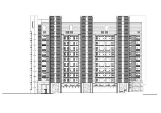 Edificio de Viviendas en Taipei / Chin Architects,Elevación 04