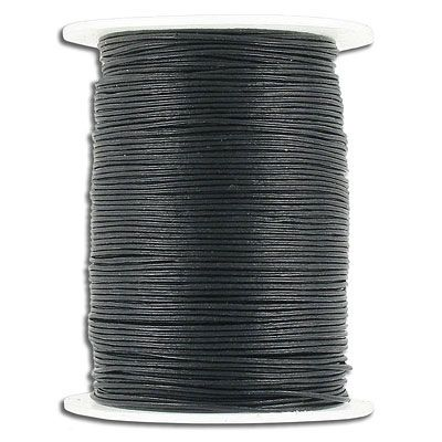 Cord leather 0.5mm diameter 100 metres black. (SKU# TT0.5MMA/BLK). Sold per pack of 1 spool(s).