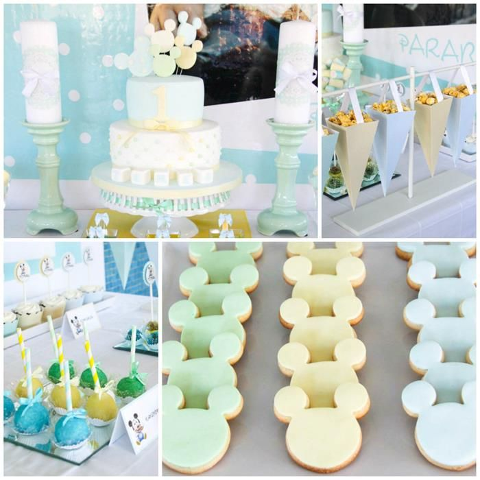 Baby mickey mouse birthday party with so many cute ideas for Baby mickey decoration ideas