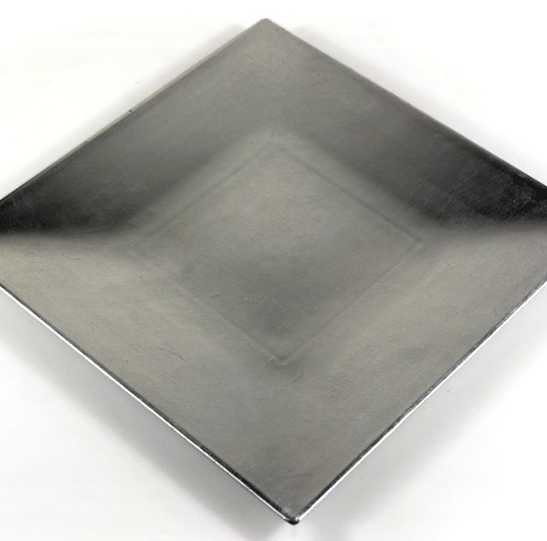 """I can use these for frames and many projects... Silver Leafed Charger Plates 12"""" Square Metallic Acrylic $2.99 each/ 6 for $2.19 each"""