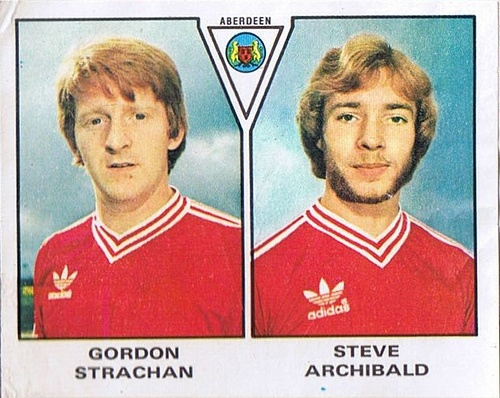 GORDON STRACHAN and STEVE ARCHIBALD Aberdeen (1980)