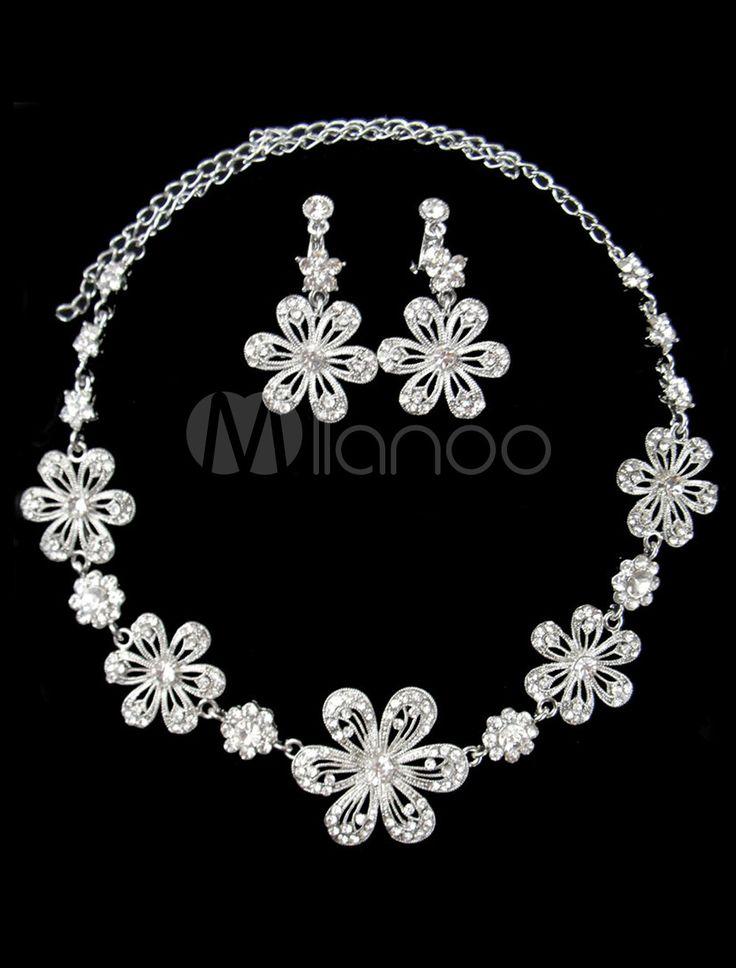#Milanoo.com Ltd          #Wedding Jewelry Sets     #Sweet #Silver #Rhinestone #Flower #Pattern #Bridal #Jewelry                  Sweet Silver Rhinestone Flower Pattern Bridal Jewelry Set                                               http://www.snaproduct.com/product.aspx?PID=5692403
