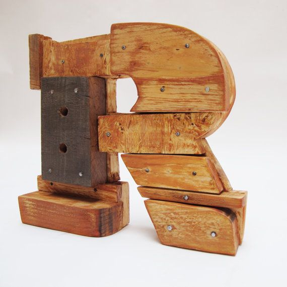 Wooden letters. Industrial letters. Wall hanging by PETULAPLAS