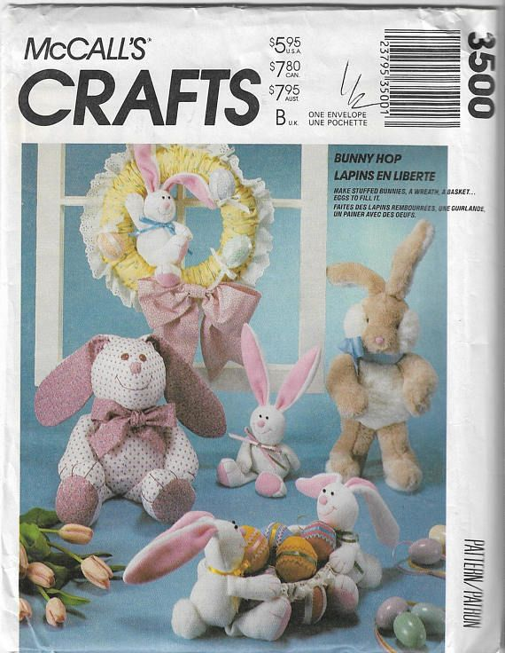 Floppy Bunny Pattern Mccall S Crafts 886 3500 Bunny Hop Easter