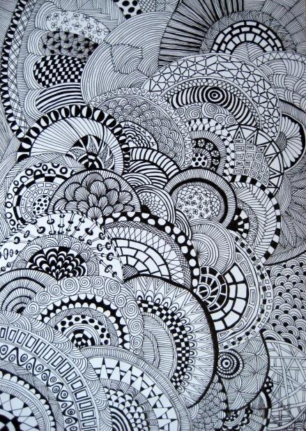 zwart wit zentangle zentangle b w pinterest doodle art