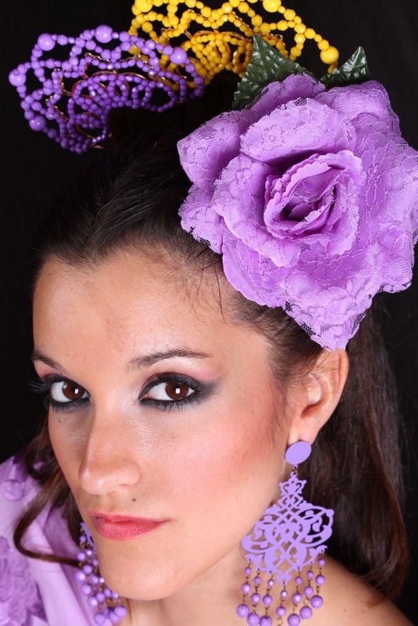 Modern Spanish flamenco combs in acetate