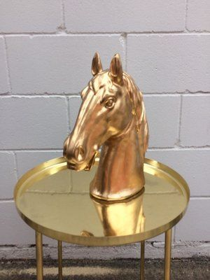 Hire Me! Gold Horse Head - Hire for $15 Perfect for Melbourne Cup!