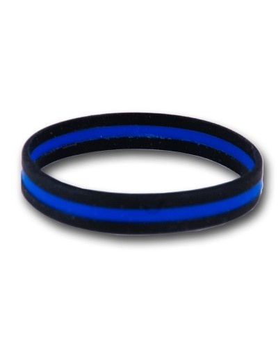 Police Memorial Bracelet - $3.00 - The PVC Memorial Bracelet is a way for us to remember the fallen officers who gave their lives protecting our community. Support our policemen.