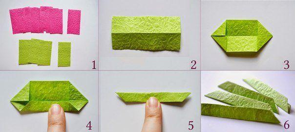 Поделки оригами из бумаги. Кувшинка