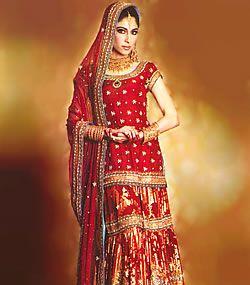 Latest Indian Pakistani Bridal Dresses Wedding Wear Gharara Sharara Lehenga