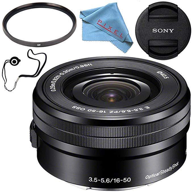 Sony E Pz 16 50mm F 3 5 5 6 Oss Lens Selp1650 40 5mm Uv Filter Fibercloth Lens Capkeeper Bundle Review Oss Lens Sony