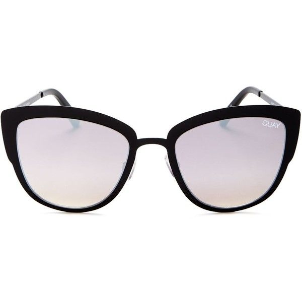 Quay Supergirl Mirrored Cat Eye Sunglasses, 55mm ($64) ❤ liked on Polyvore featuring accessories, eyewear, sunglasses, quay eyewear, cat-eye glasses, quay sunglasses, mirrored sunglasses and mirrored glasses