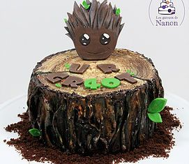 Gâteau bébé Groot - Guardians of the galaxy baby Groot cake