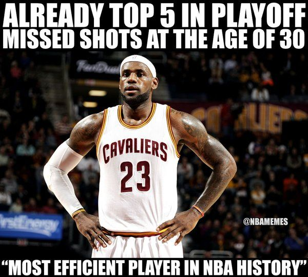 LeBron James efficient? - http://nbafunnymeme.com/nba-funny-memes/lebron-james-efficient