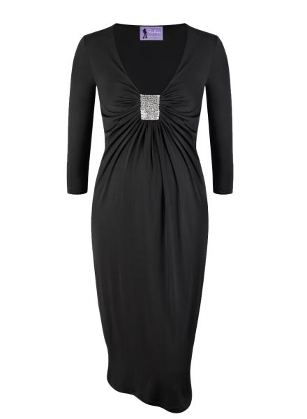 WHY WE LOVE THIS PAULINA MATERNITY COCKTAIL DRESS– 'LAST MAN'; The 'Last Night' LBD by Paulina Maternity is a maternity wardrobe essential. The empire line defines the narrowest part below the bust while the sequin cluster and silky touch fabric add a touch of glamour to your fail-safe little black dress. #wonderfulchristmas