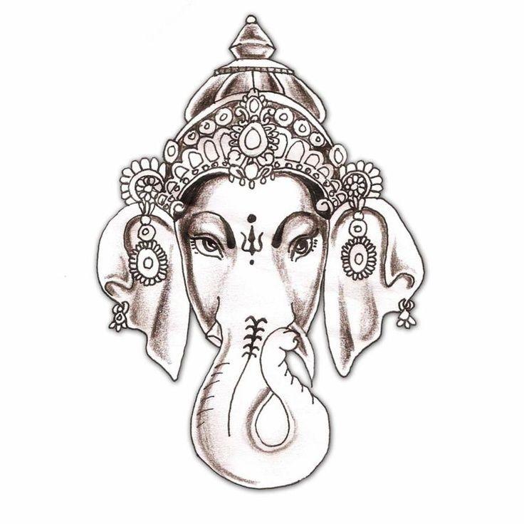 Hindu Tattoo, Ganesh Tattoo, Tattoo Design, Hindu Elephant Tattoo, Ganesha Tattoo, Tattoos Piercing, Elephant Tattoos