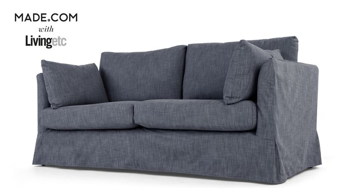 Antibes Loose Cover 3 Seater Sofa Denim 3 Seater Sofa